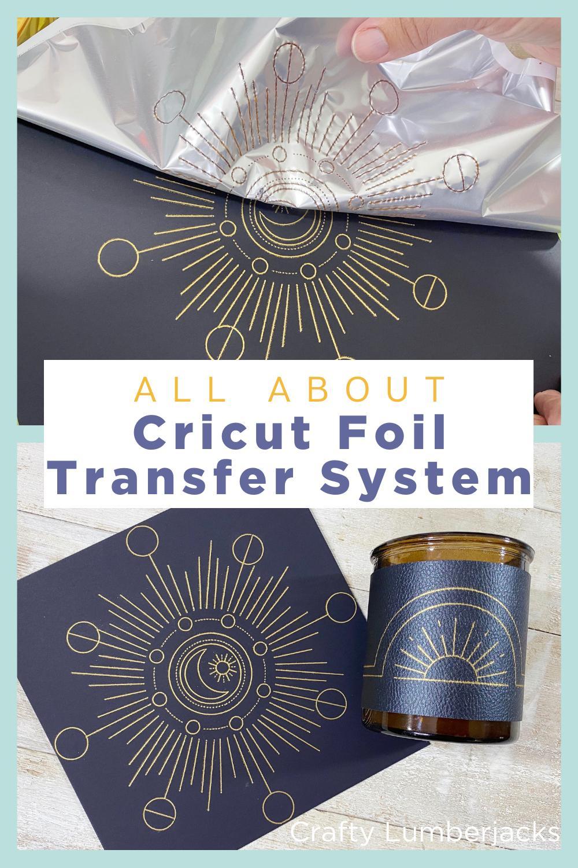 #ad Everything you need to know about Cricut Foil Transfer System Kit. #cricutcreated #cricutfoil #cricutmaker #cricutexplore #cricutair #cricut #madewithcricut #madebycricut #cricutfoiltransfer #cricutfoiltransferkit #foiling #foil #gold #goldleaf #moonprint #sunrise #sunup #phasesofthemoon #witchvibes #witch #seasonofthewitch #cricuttutorial #cricutideas #cricutholiday #cricutchristmas #cricutgifts #cricutinvitation #invitation #cricuting #foilingsystem #foildiy #diy #howto #howtofoil #silverfoil #goldfoil #jewels #jeweltones #candlediy #fauxleather #vegancrafts #vegancraft