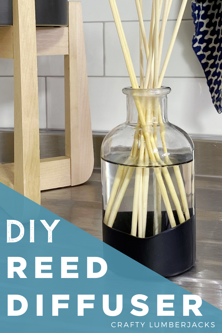 How To Dip Glass In Plasti Dip And Make An Essential Oil Reed Diffuser #plastidip #dipheads #essentialoil #reeddiffuser #upcycle #create #custom #dip #painted #black #nonslip #nonscratch #vodka #airfreshener #essentialoils #customscent #essentialoilblends #blends #skewers #dollarstore #kitchencrafts #bathroom #kitchen #natural #allnatural #modern #DIY #fresh