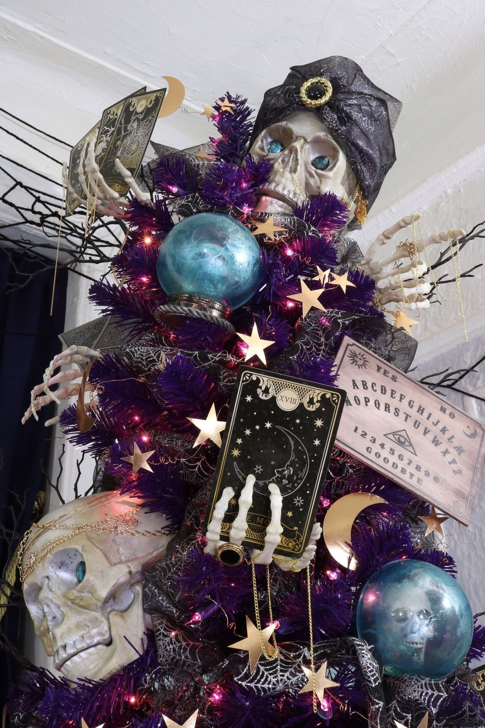 Psychic Fortune Teller Halloween Tree with Treetopia