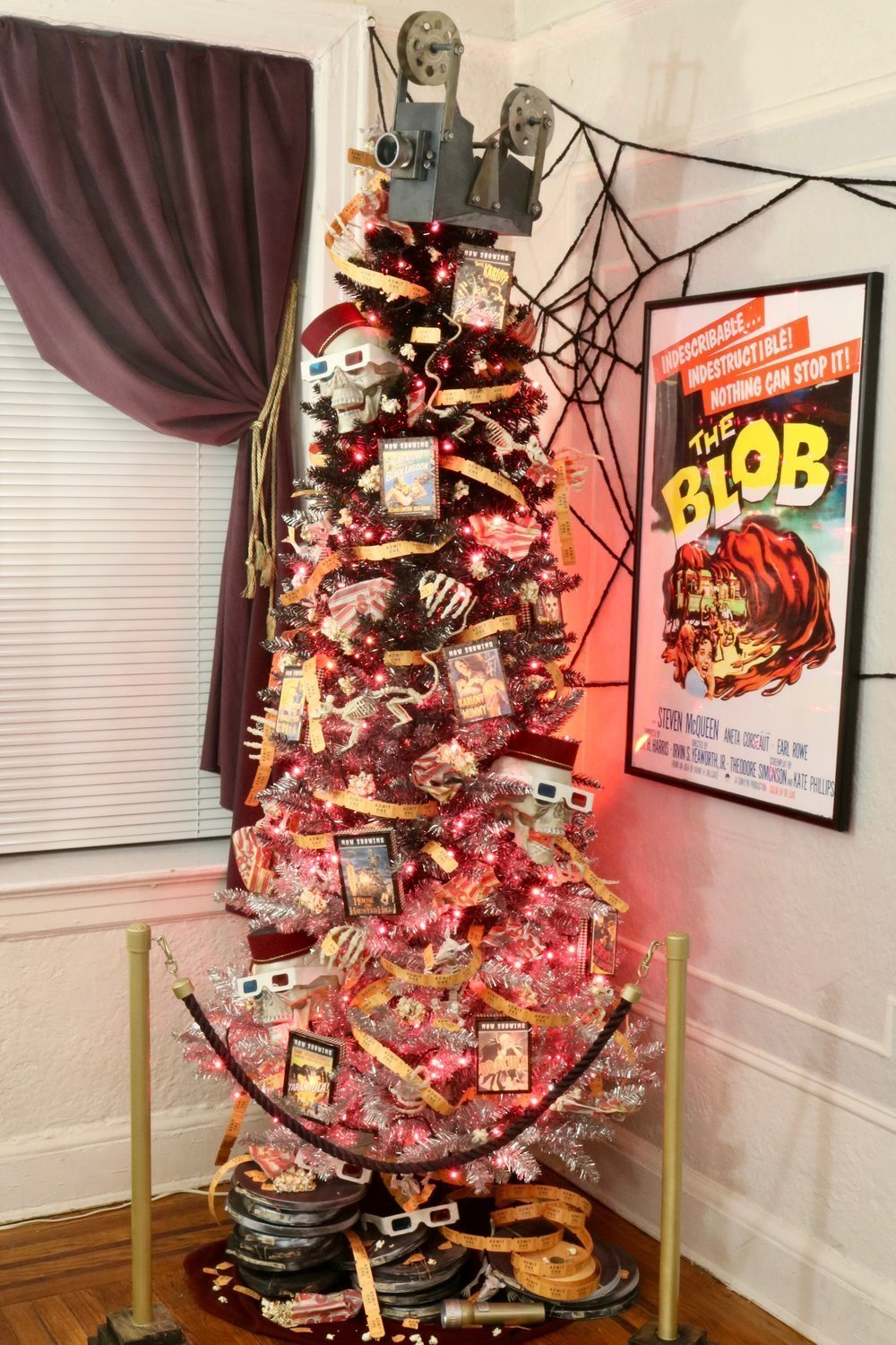 Haunted Movie Theatre Halloween Tree With Treetopia