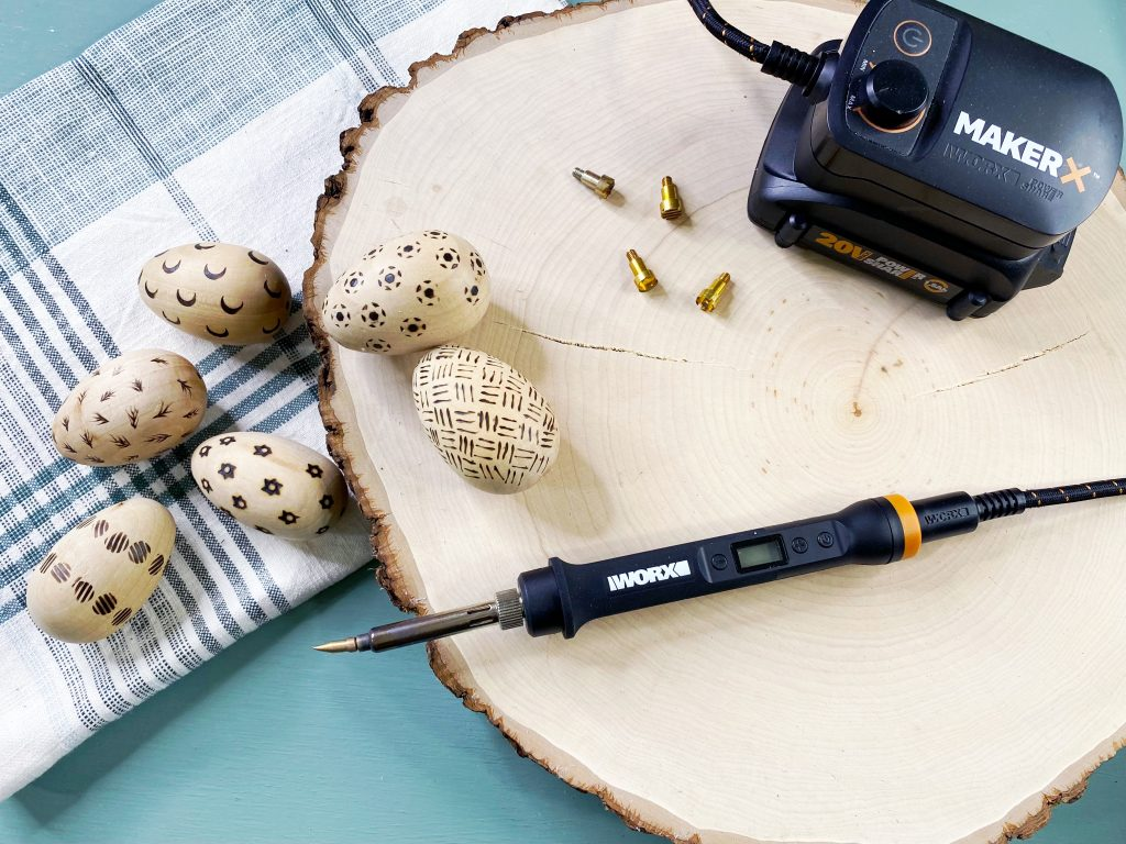 Wood Burned Eggs Materials